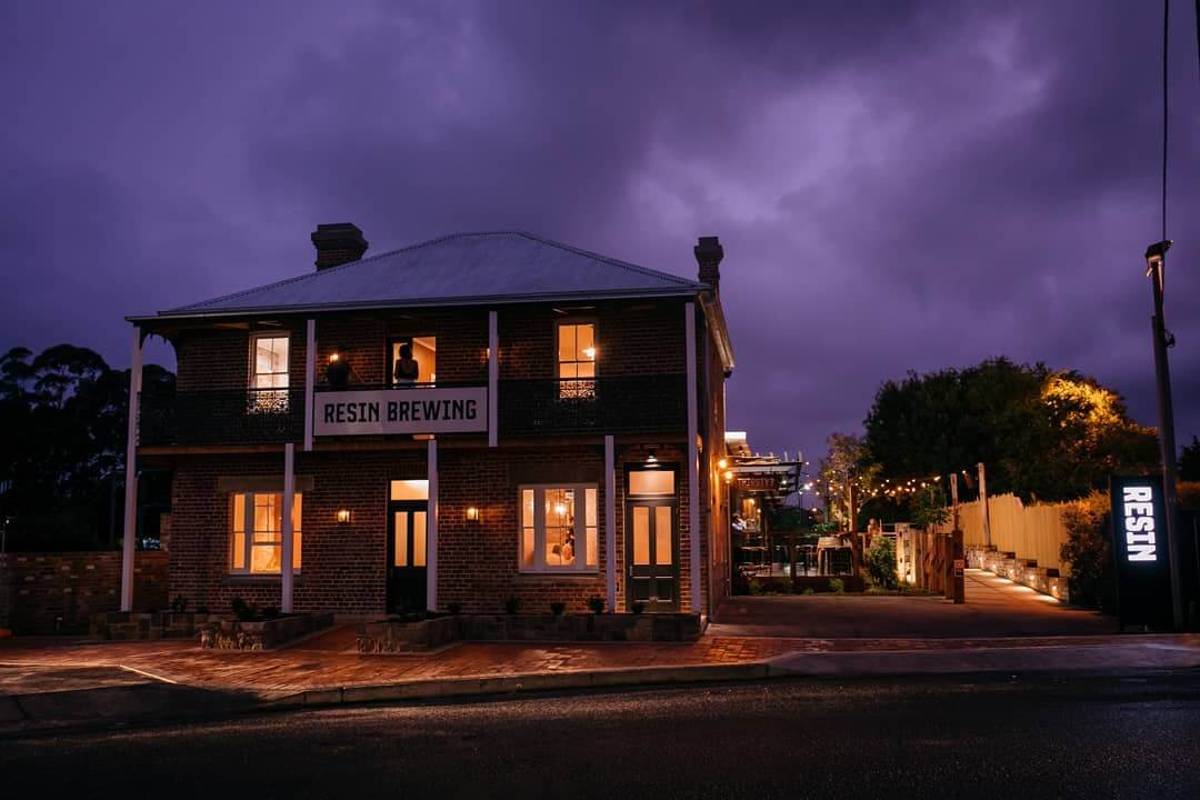 Resin Brewing is housed in the historic Bulli Railway Guest House.