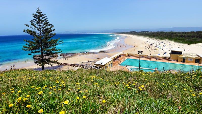 Port Kembla Beach in the Illawarra is the longest beach in Wollongong.