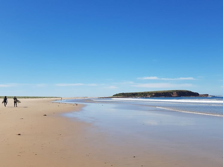 Warilla Beach in Shellharbour is popular for swimming, surfing and fishing.