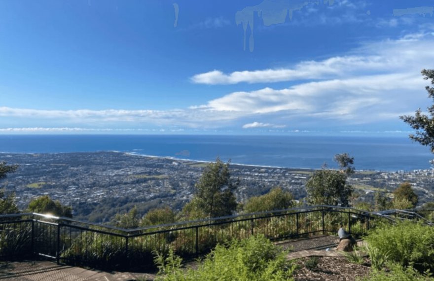 The view from Mount Keira Summit Park