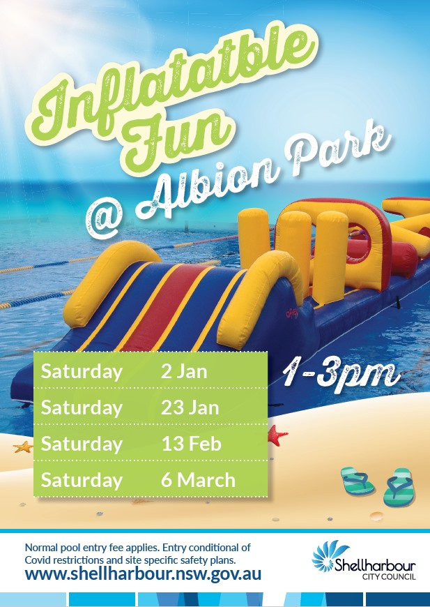 the fold illawarra inflatable fun at albion park pool