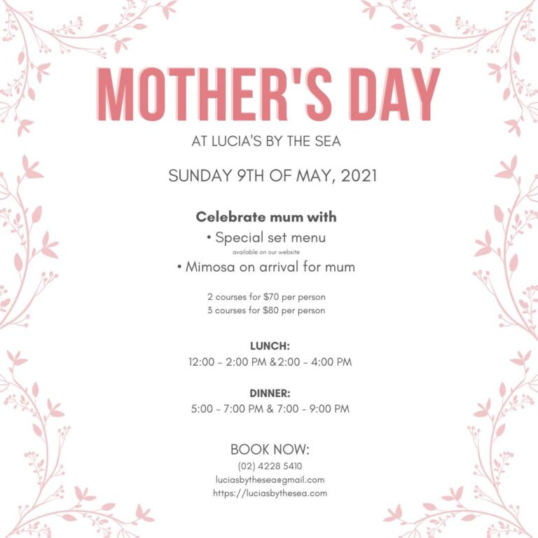 the fold illawarra mothers day 2021 at lucias by the sea 768x768