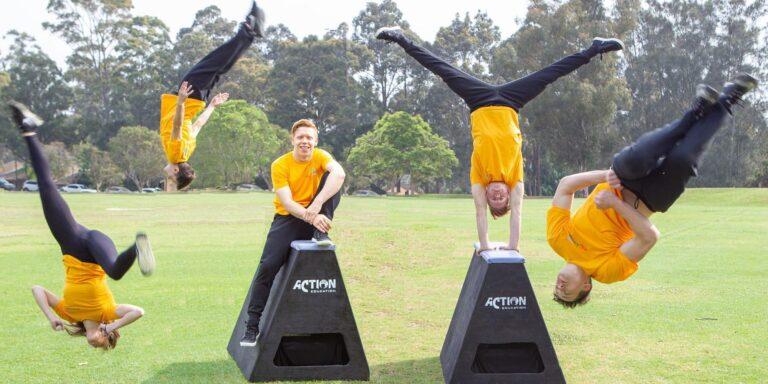 the fold illawarra comic gong presents beginners acro parkour masterclass 768x384
