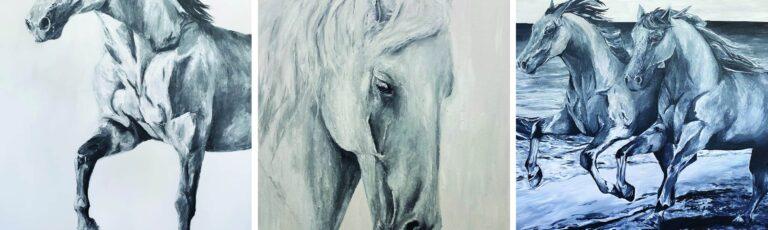 the fold illawarra solo exhibition by jess bezant the horses 768x230